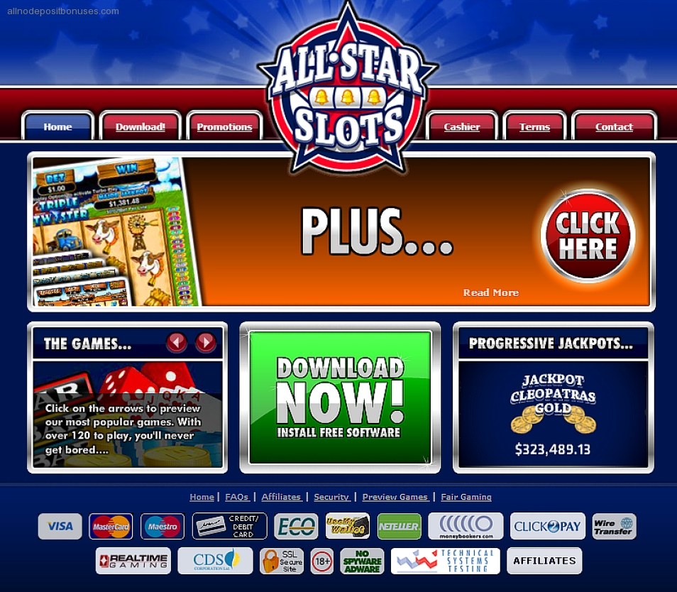 all star slots no deposit bonuses