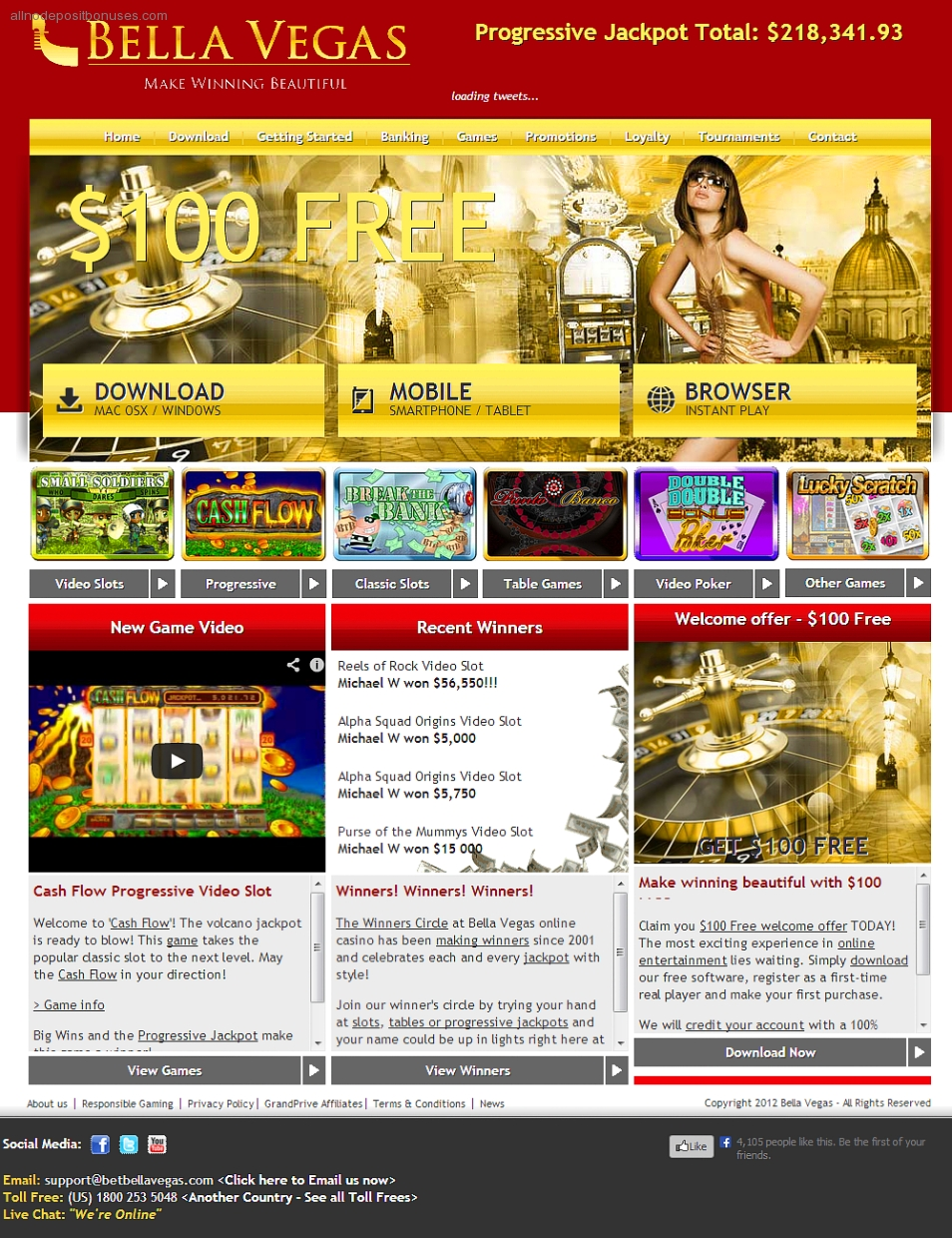 bella vegas casino 50 free spins