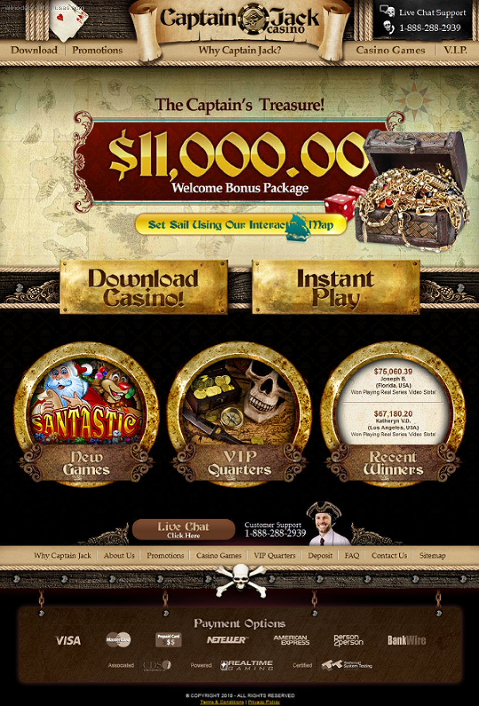 Captain Jack Casino no deposit bonus codes