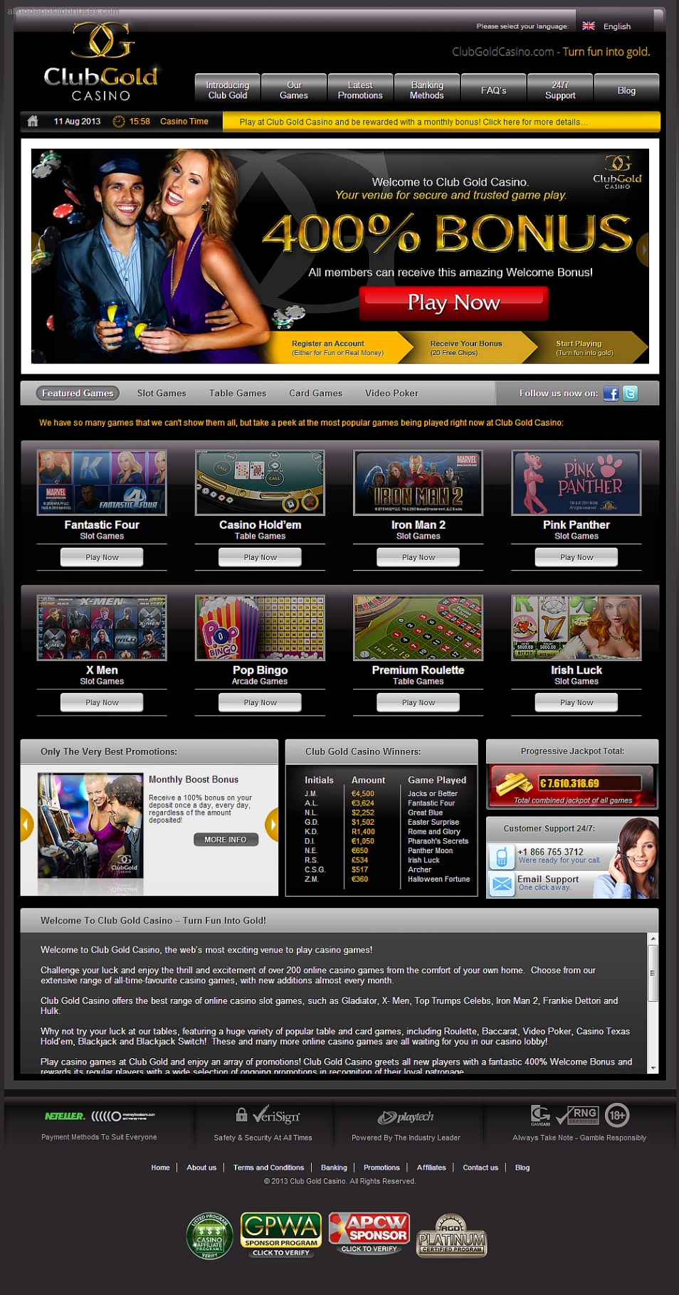 club gold casino no deposit bonus