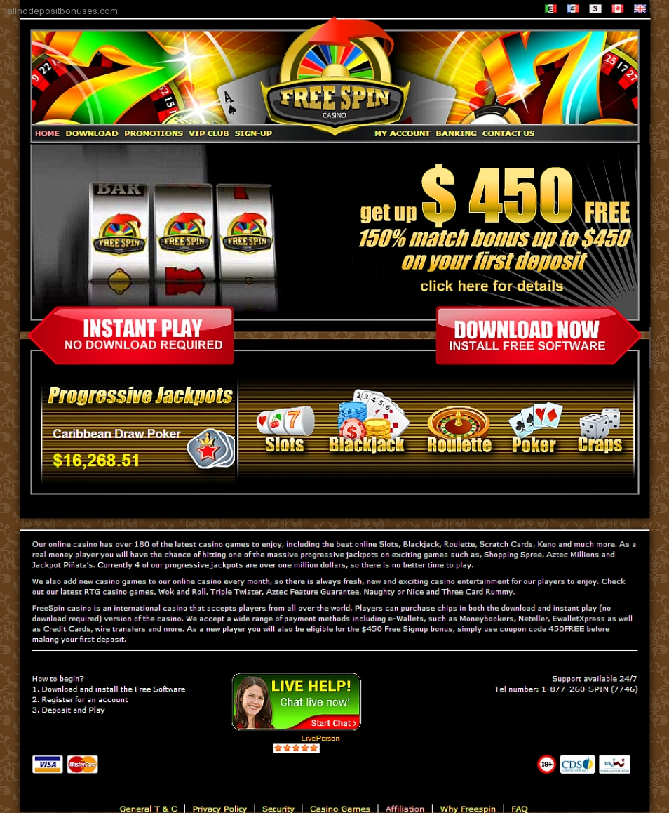 Free spin casino coupon