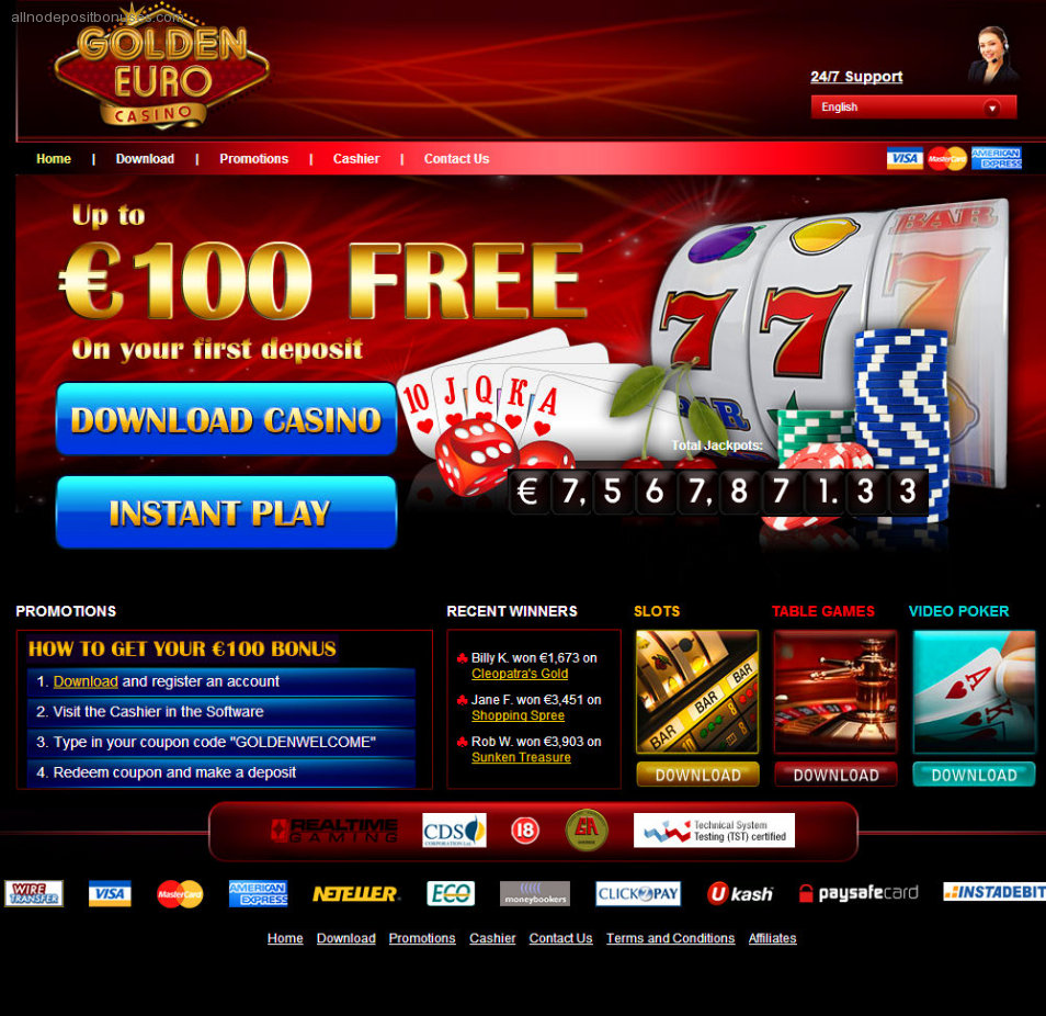 golden euro casino bonus code
