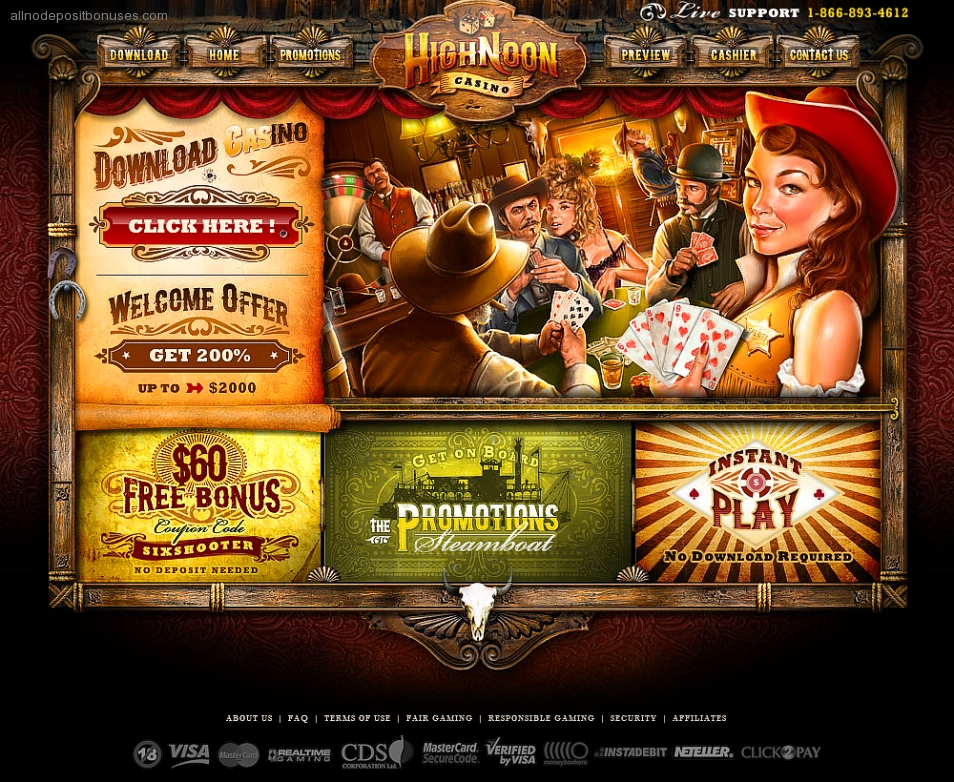 High noon casino free chip online casinos strategy guide
