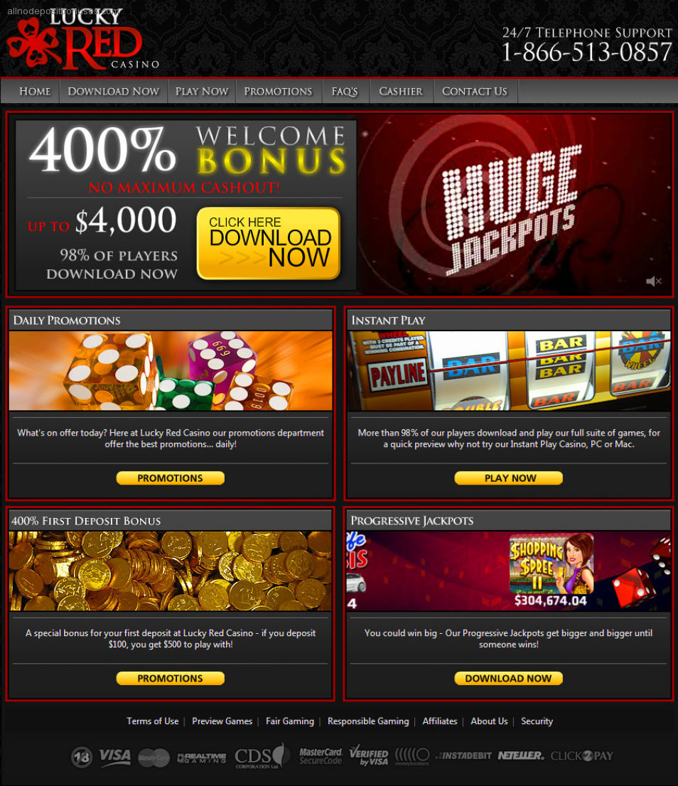 lucky red casino bonus codes