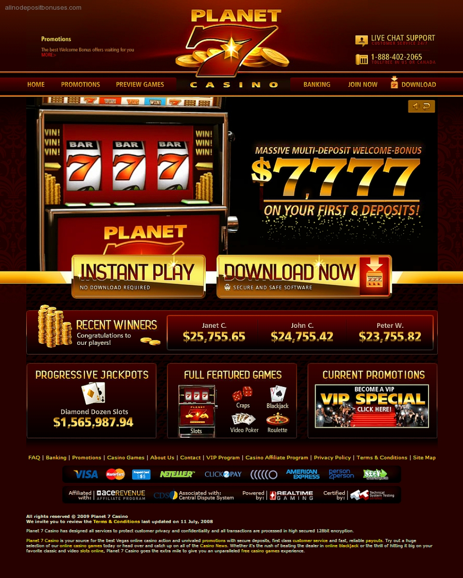 planet 7 casino $200 no deposit bonus codes
