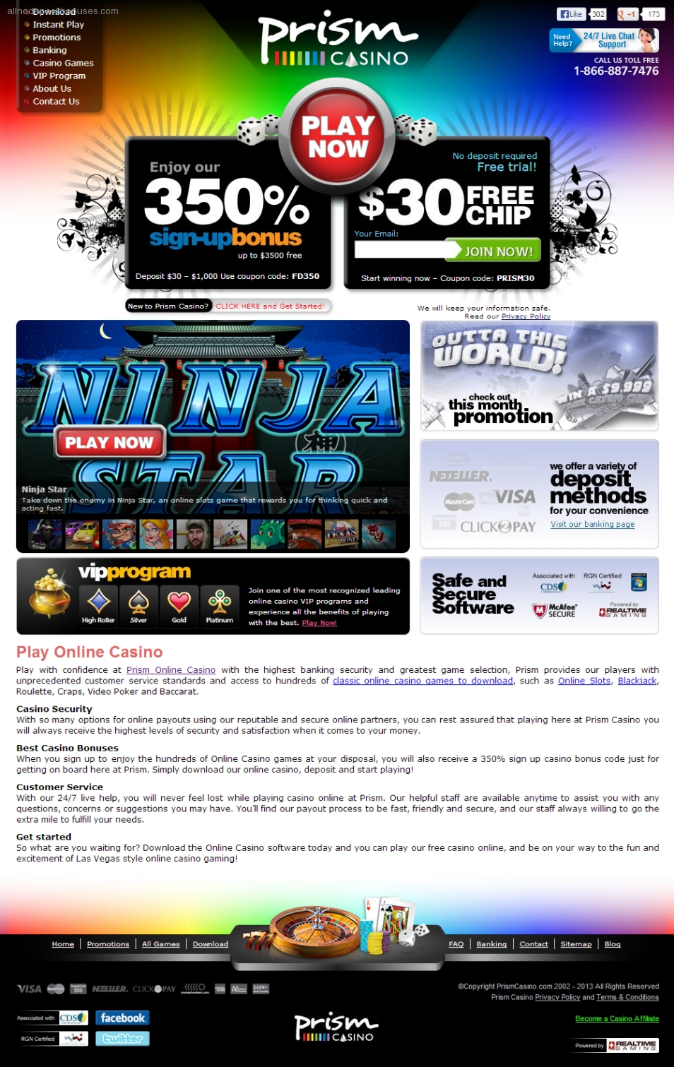 Prism online casino no deposit bonus ceasers casino atlantic city