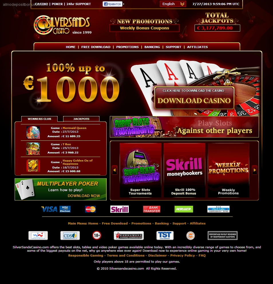 100 10 FS First Deposit Bonus at All Slots Casino